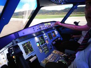 Sicht vom Pilotensitz.
