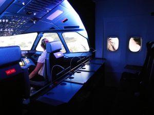 Perspektive aus dem A320 Cockpit